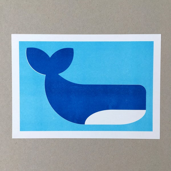 Image of Whale A4 Riso Print