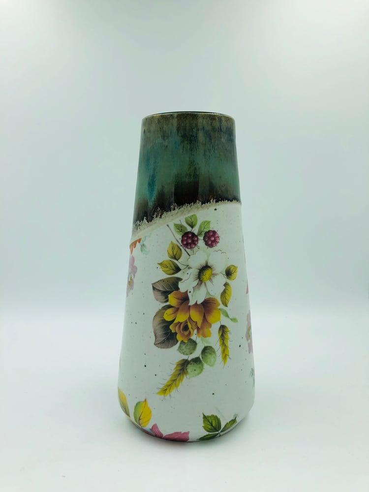 Image of Blue/Green Floral Vase