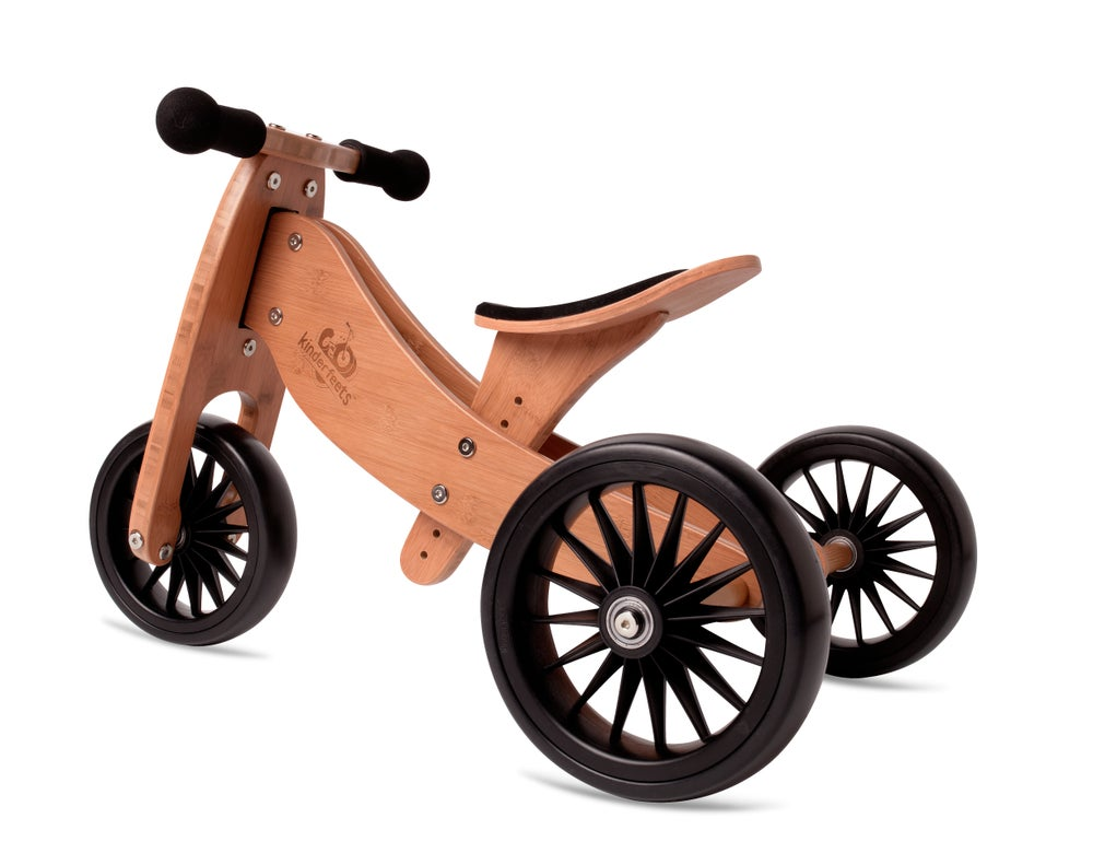 Image of 2-in-1 Tiny Tot PLUS Tricycle & Balance Bike Bamboo