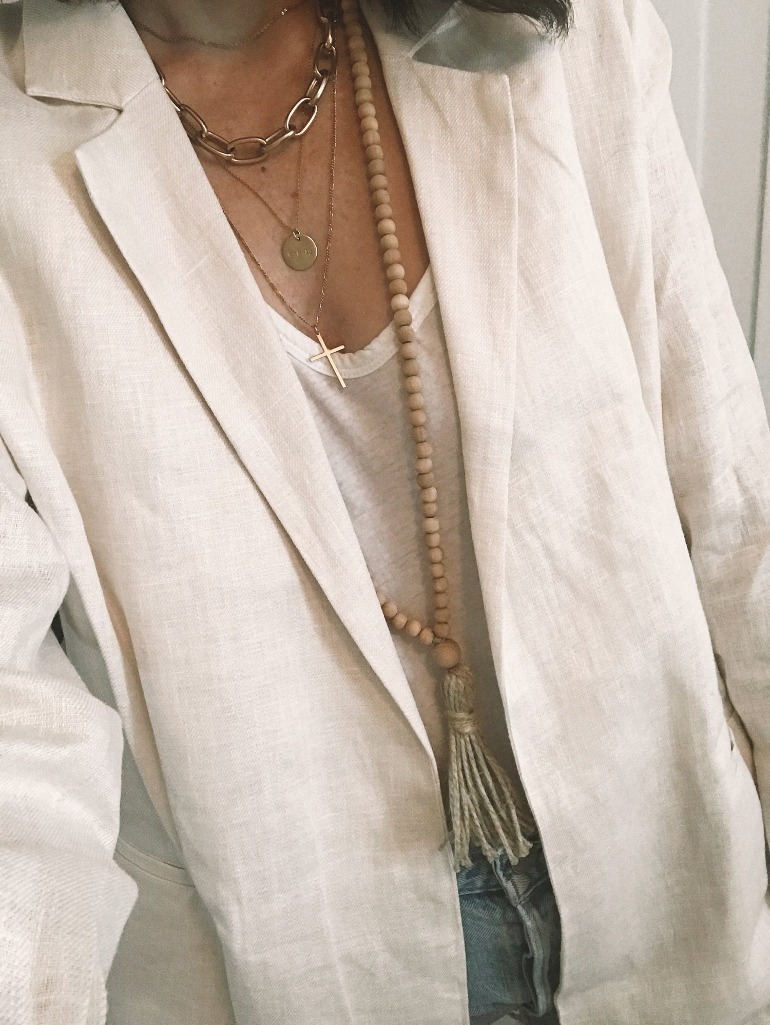 Image of Hemp Tassel Necklace - 'Dried Palm'
