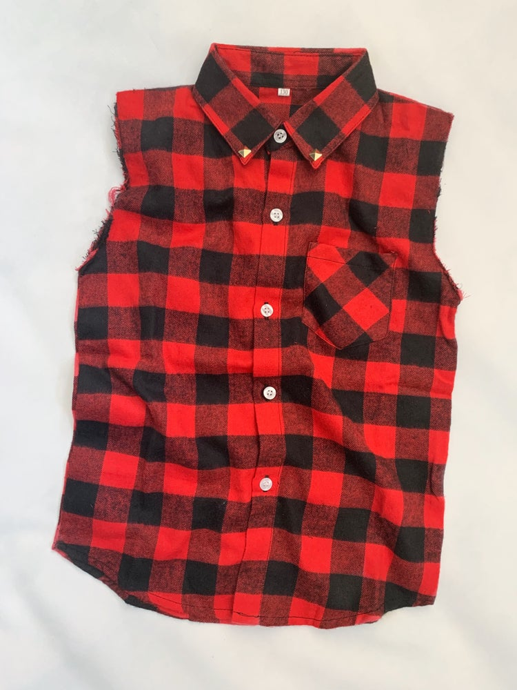 Image of Checkered Tank Shirt
