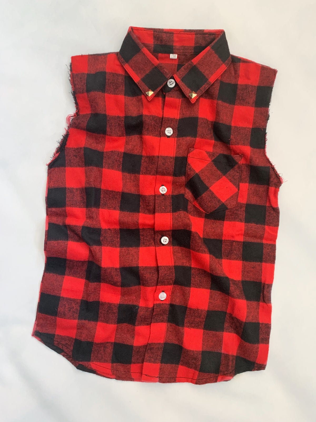 Image of Red Check Tank Shirt