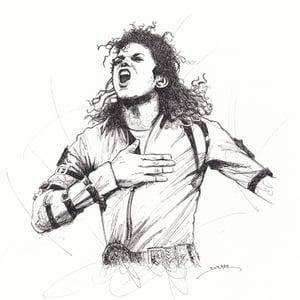 Image of Michael Jackson Doodle