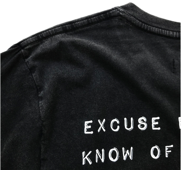 Image of EXCUSE EM TEE - STONE WASHED BLACK