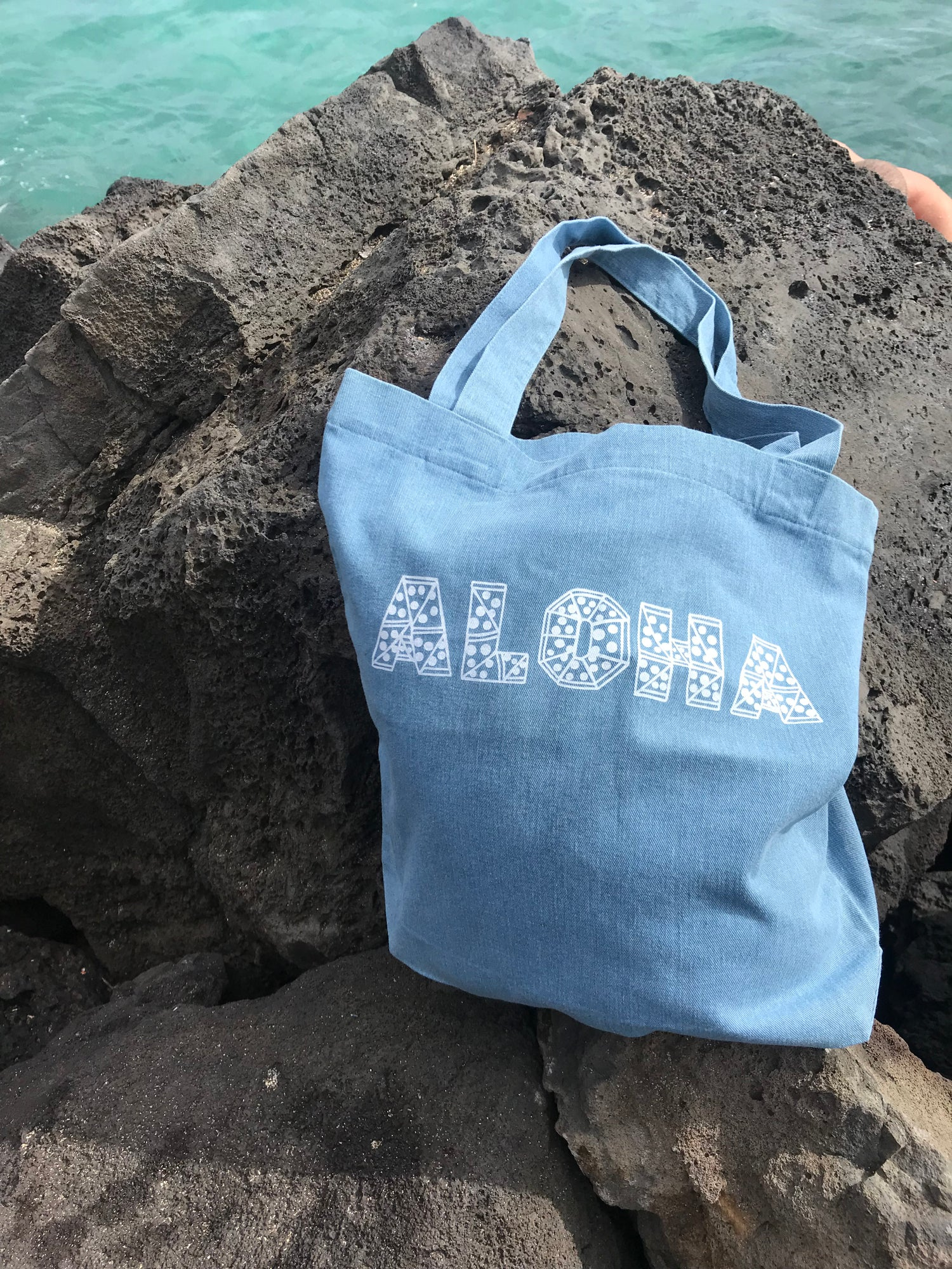 Image of Aloha Slice Denim Tote Bag