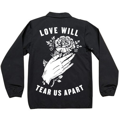 "Image of ""Love Will Tear Us Apart"" Coaches Jacket"