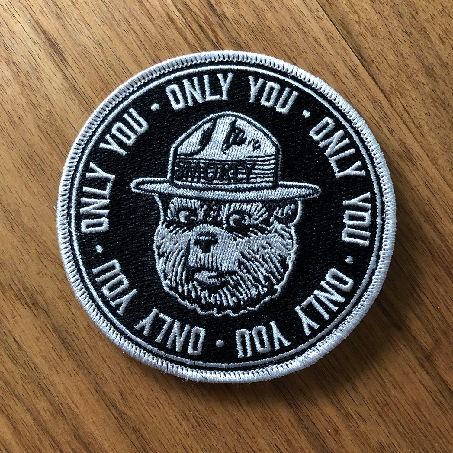 """Image of Smokey the Bear """"Only You"""" Embroidered Patch"""
