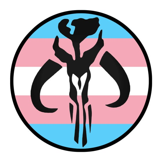 "Image of Mythosaur Trans Pride 3.5"" Patch"