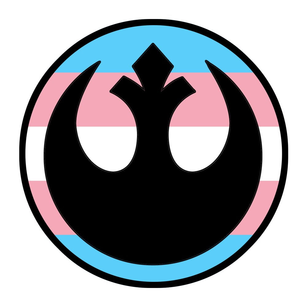 "Image of Rebel Trans Pride 3.5"" Patch"