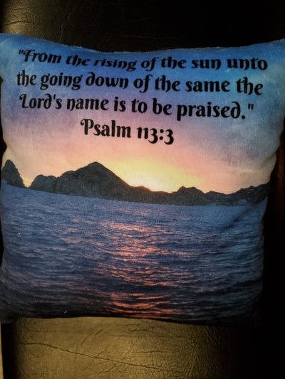 Image of Soft Minky 'Rising of the Sun' Pillow (2 sided)
