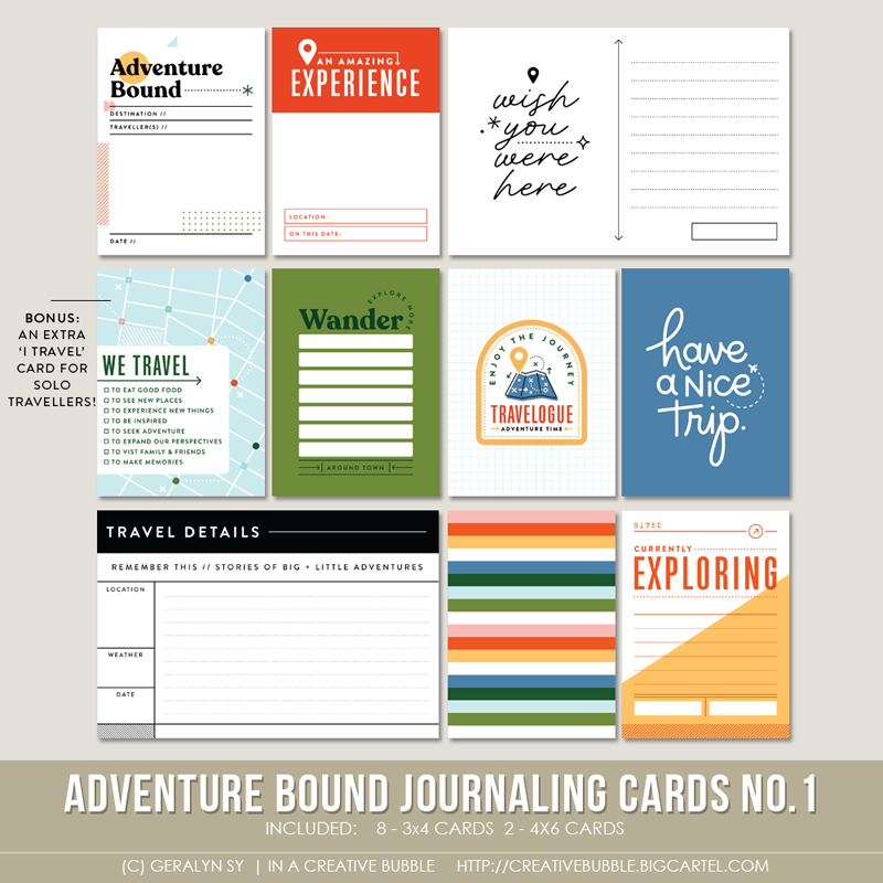 Image of Adventure Bound Journaling Cards No.1 (Digital)