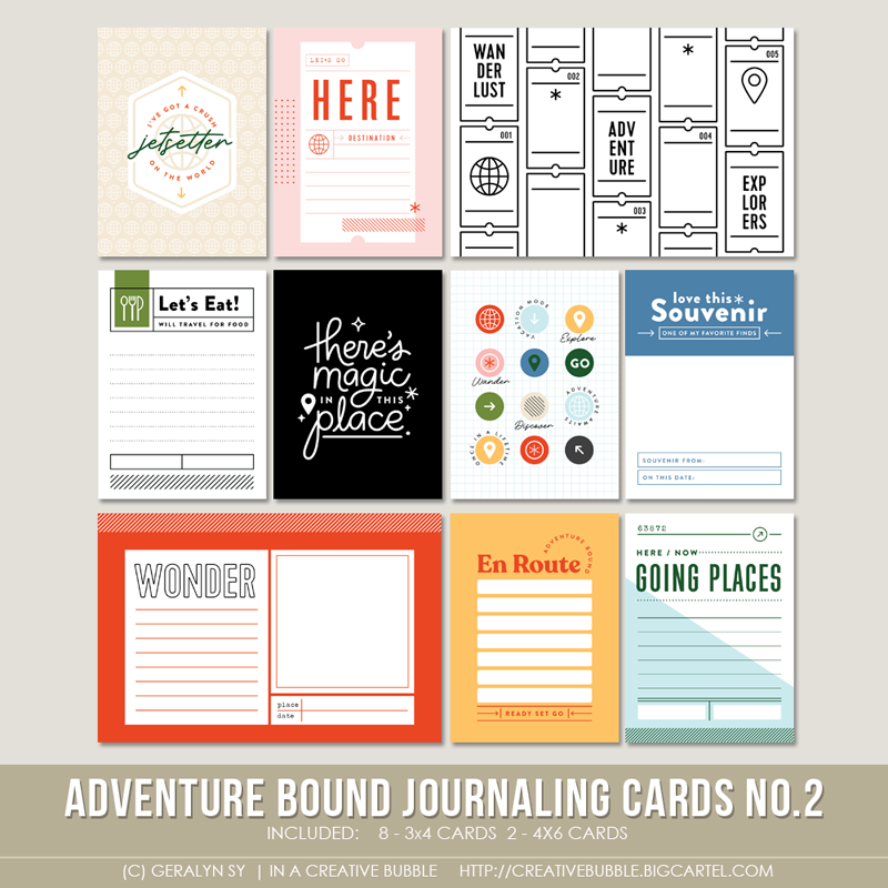 Image of Adventure Bound Journaling Cards No.2 (Digital)