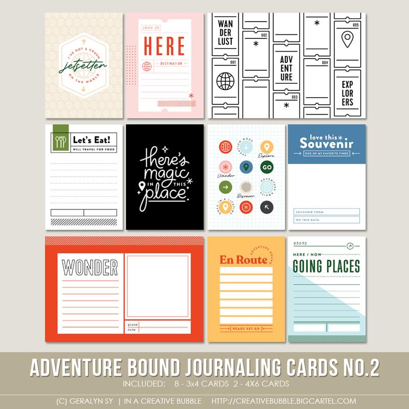 Image of Adventure Bound Journaling Cards No.2 (Digital)