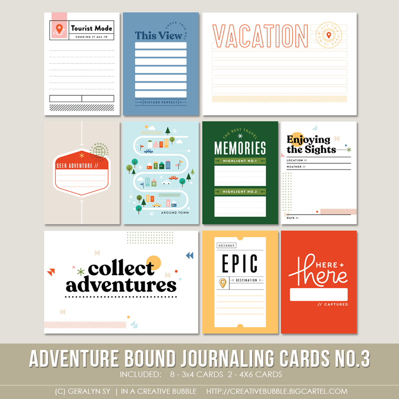 Image of Adventure Bound Journaling Cards No.3 (Digital)