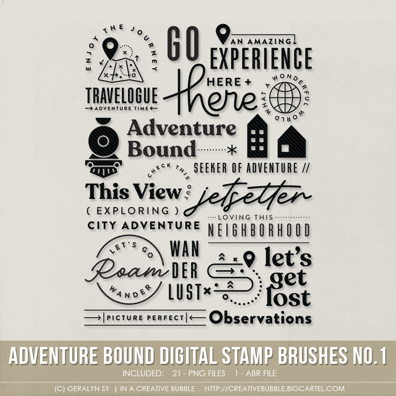 Image of Adventure Bound Stamp Brushes No.1 (Digital)