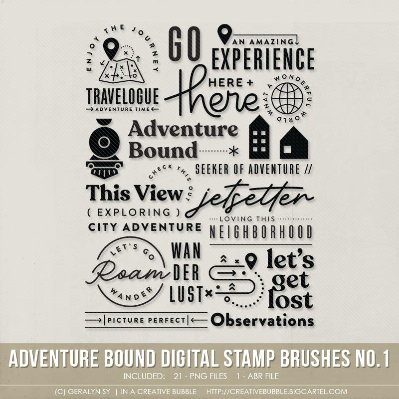 Image of Adventure Bound Stamp Brushes No.1 (Digital)