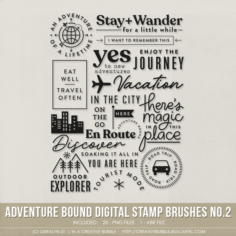 Image of Adventure Bound Stamp Brushes No.2 (Digital)