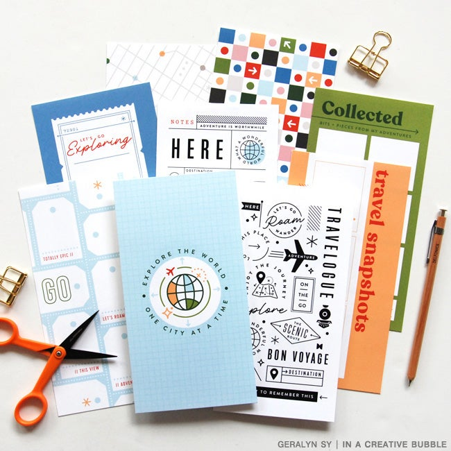 Image of Bon Voyage Traveler's Notebook Papers (Digital)