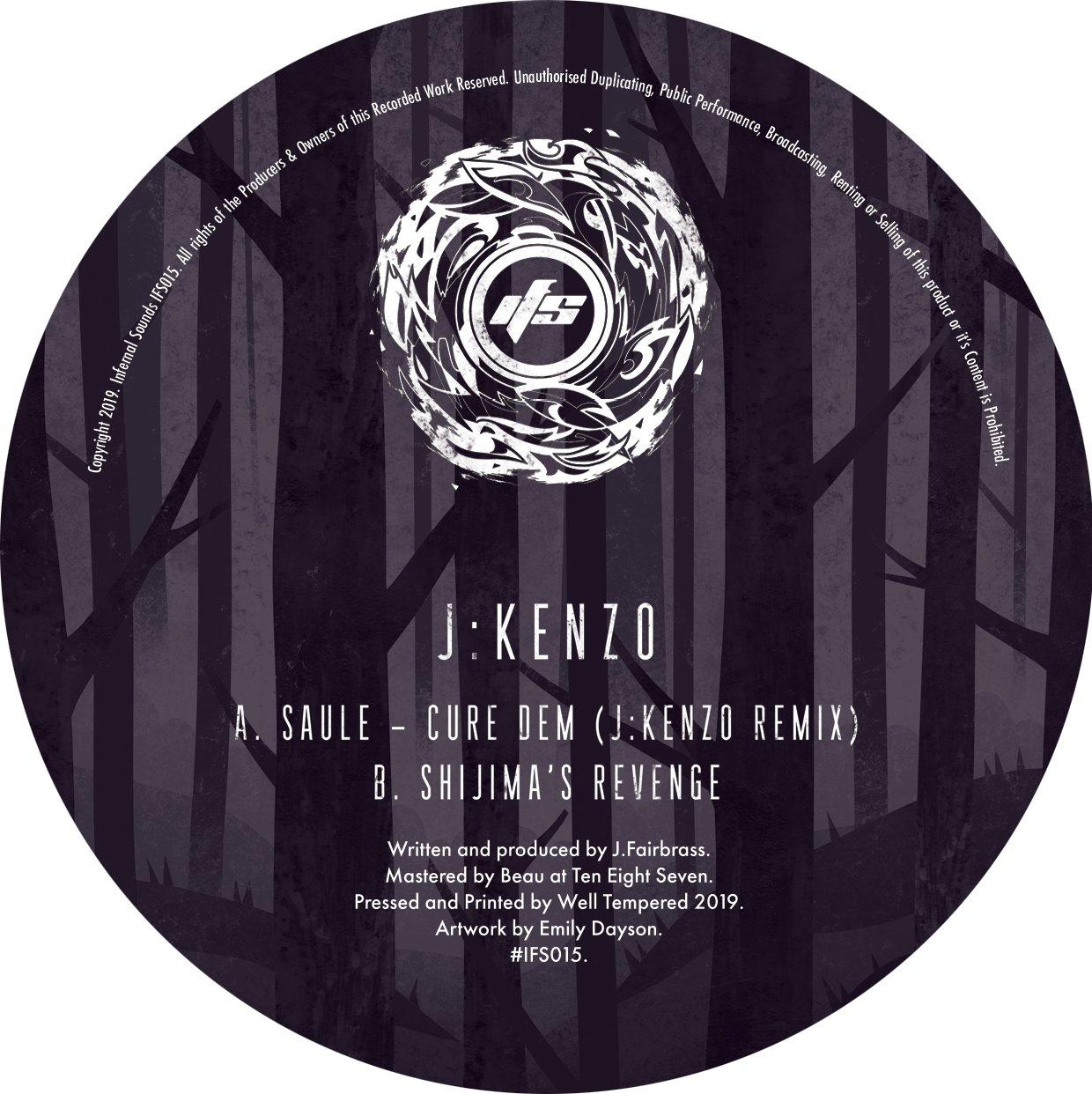 Image of IFS015: Saule - Cure Dem (J:Kenzo Remix) / Shijima's Revenge + Artwork Print [FULL SLEEVE ARTWORK]