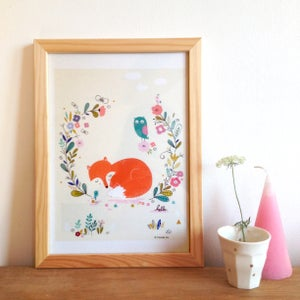 Image of Fox poster, Art print, decor for the home - size A4