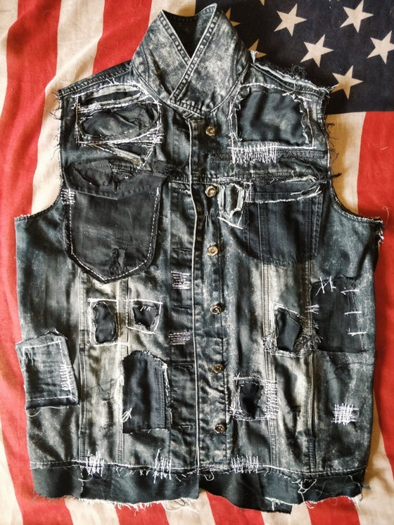 Image of Worn distressed vest