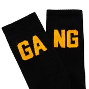 Image of SIXBLOX GANG SOCKS BLACK/ORANGE