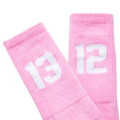 Image of SIXBLOX 1312 SOCKS PINK/WHITE