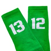 Image of SIXBLOX 1312 SOCKS GREEN/WHITE
