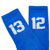 Image of SIXBLOX 1312 SOCKS BLUE/WHITE