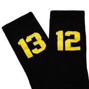 Image of SIXBLOX 1312 SOCKS BLACK/YELLOW