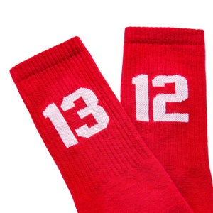 Image of SIXBLOX 1312 SOCKS RED/WHITE