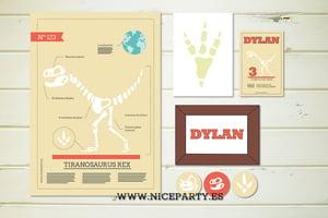 Image of Pack imprimible huesos de dinosaurio