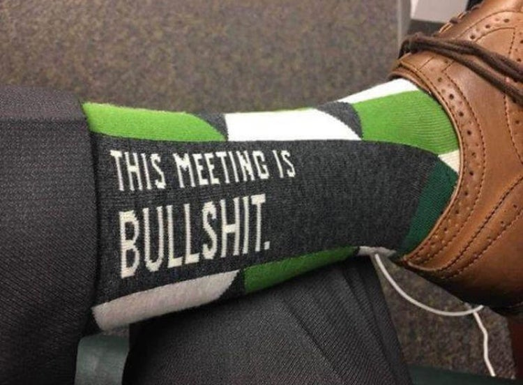 Image of BULLSHIT MEETING MEN'S CREW SOCKS