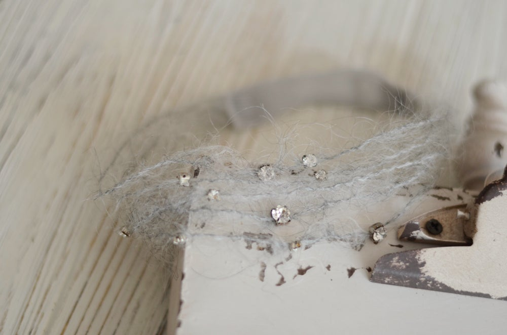 Image of Mohair and crystal headband