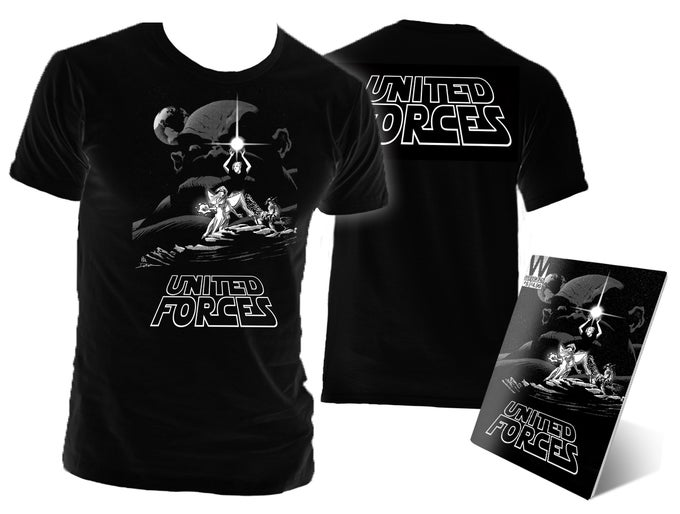Image of United Forces T-Shirt & Comic - Star Wars Tribute
