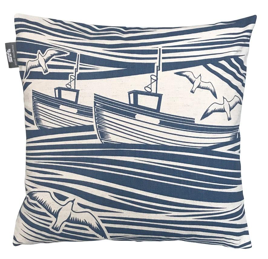 Image of Whitby Cushion - Washed Denim