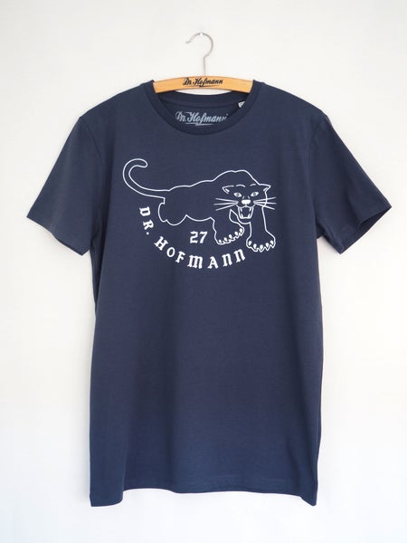 "Image of ""BLACK PANTHERS""  - Organic Cotton - Blue Grey"