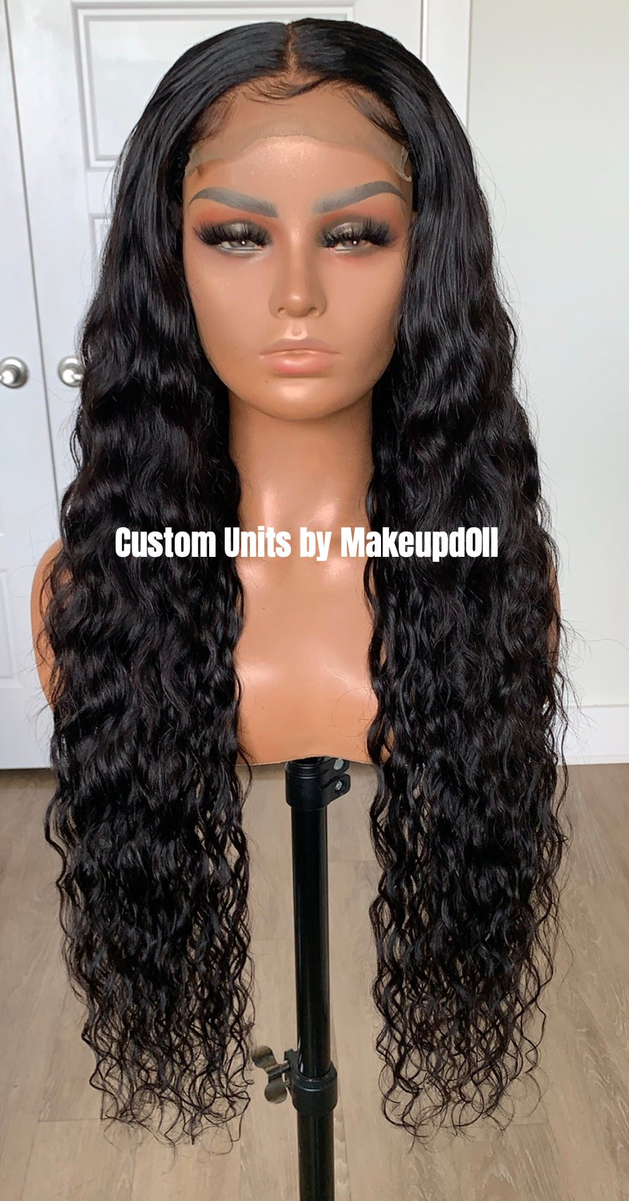 "Image of Cambodian Natural Wave 28"" Lace Closure Wig!"