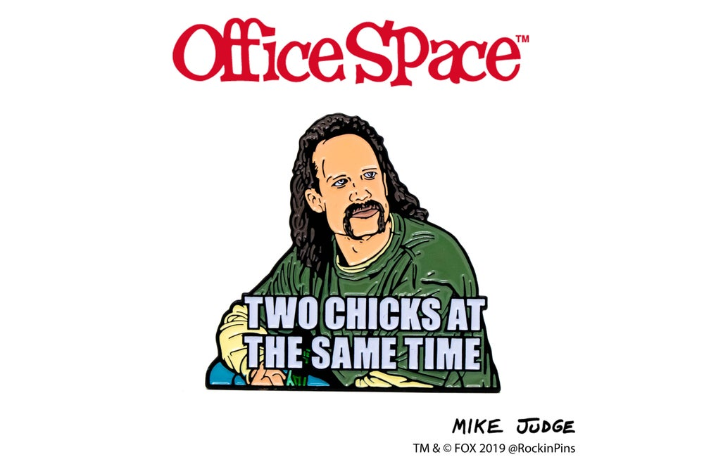 Image of Office Space - Two Chicks Enamel Pin
