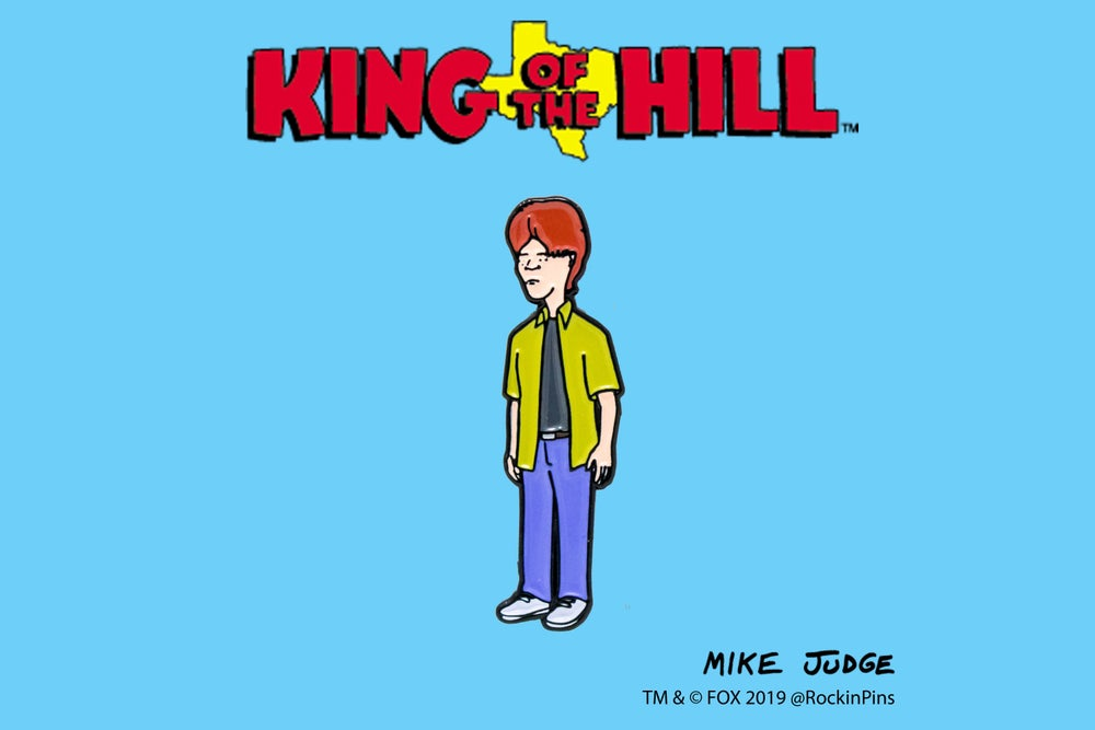 Image of King of the Hill - Dooley Enamel Pin