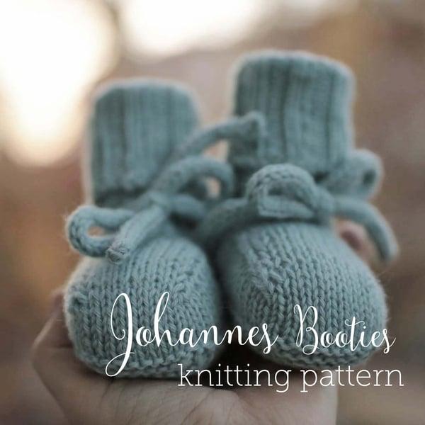 Image of knitting pattern Johannes Booties english