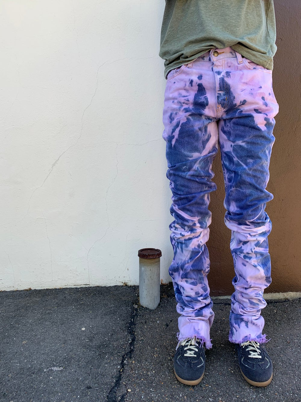 "Image of Purple Dye 90"" Denim"