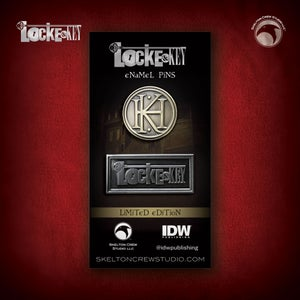 Image of Locke & Key: Limited Edition Logo & Key House Emblem pin set!