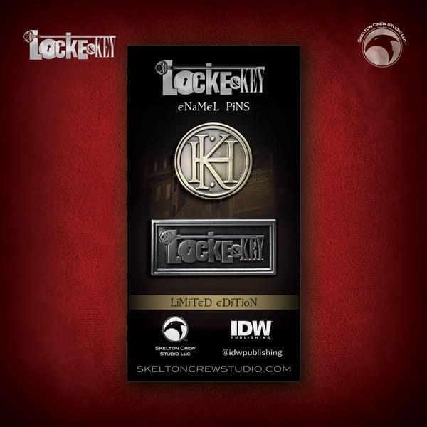 Image of Locke & Key: Limited Edition Logo & Key House Emblem pin set!