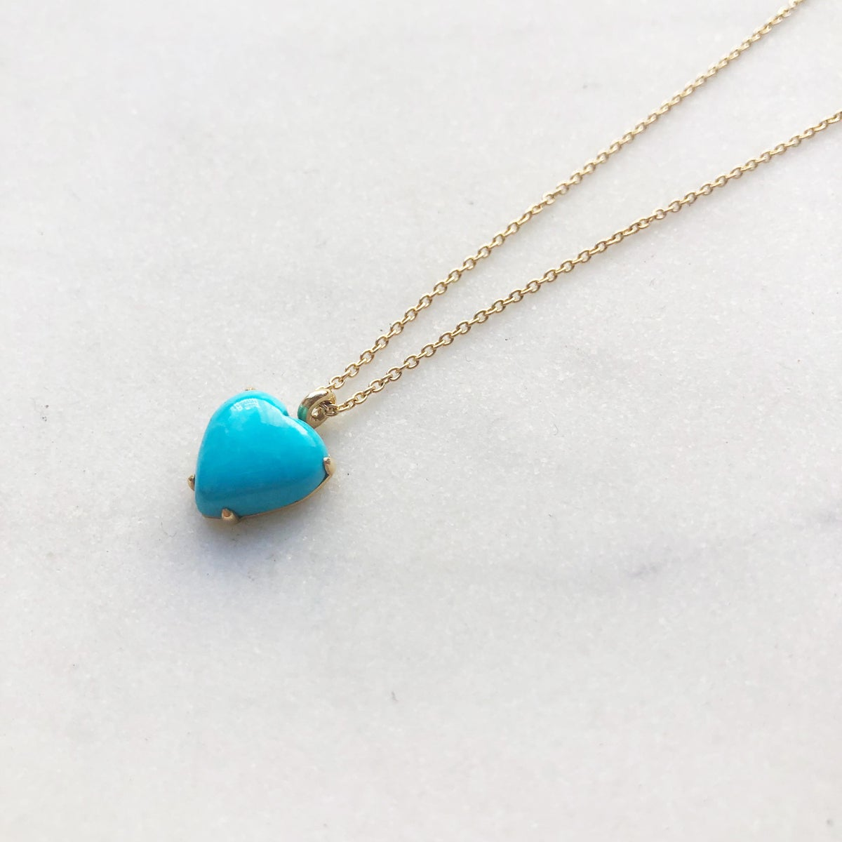 Image of Sleeping Beauty Turquoise  Heart Necklace