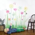 Flowers Garden Scene Wall Decals
