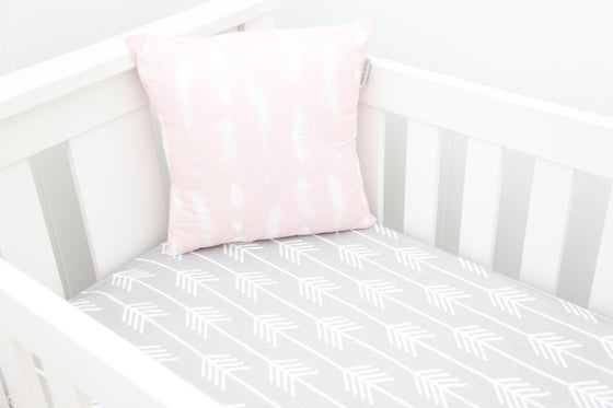 Image of Custom hand-made cot or bassinet fitted sheet