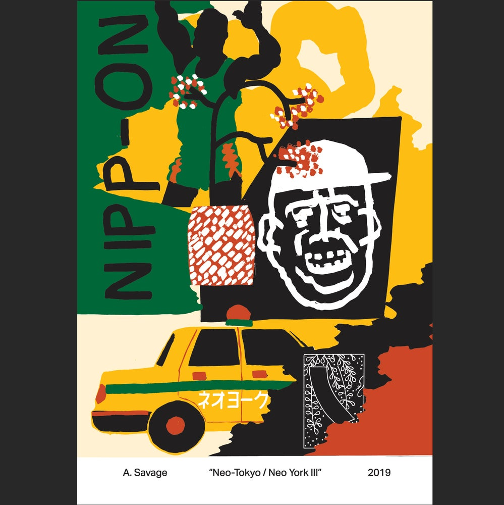 """Image of A. SAVAGE """"NEO-TOKYO/NEO YORK III"""" A1 POSTER"""