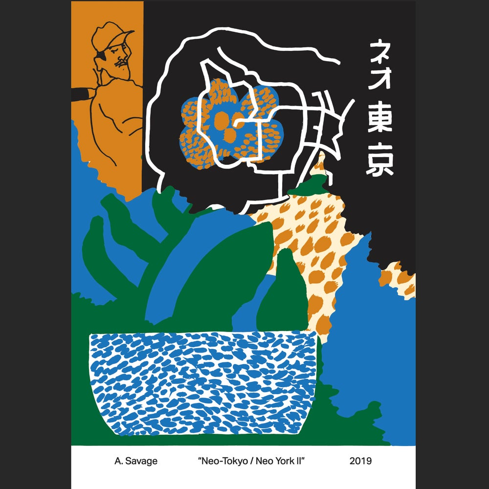 """Image of A. SAVAGE """"NEO-TOKYO/NEO YORK II"""" A1 POSTER"""