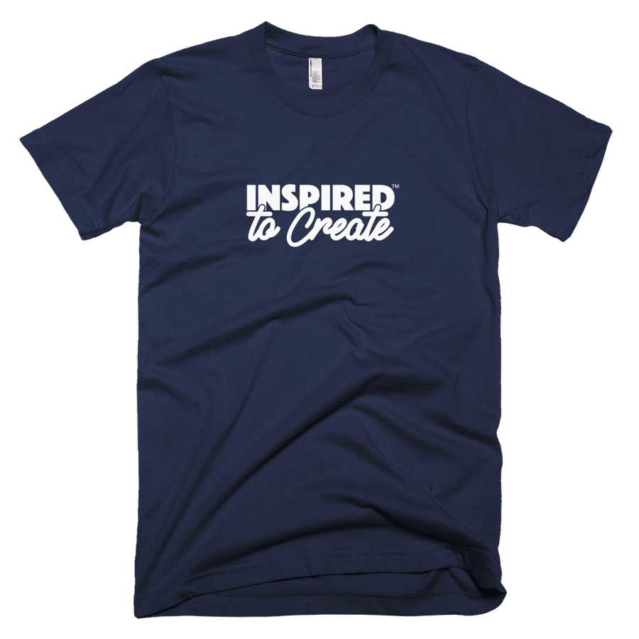 Image of Men's Inspired to Create Slogan Tee (Navy)